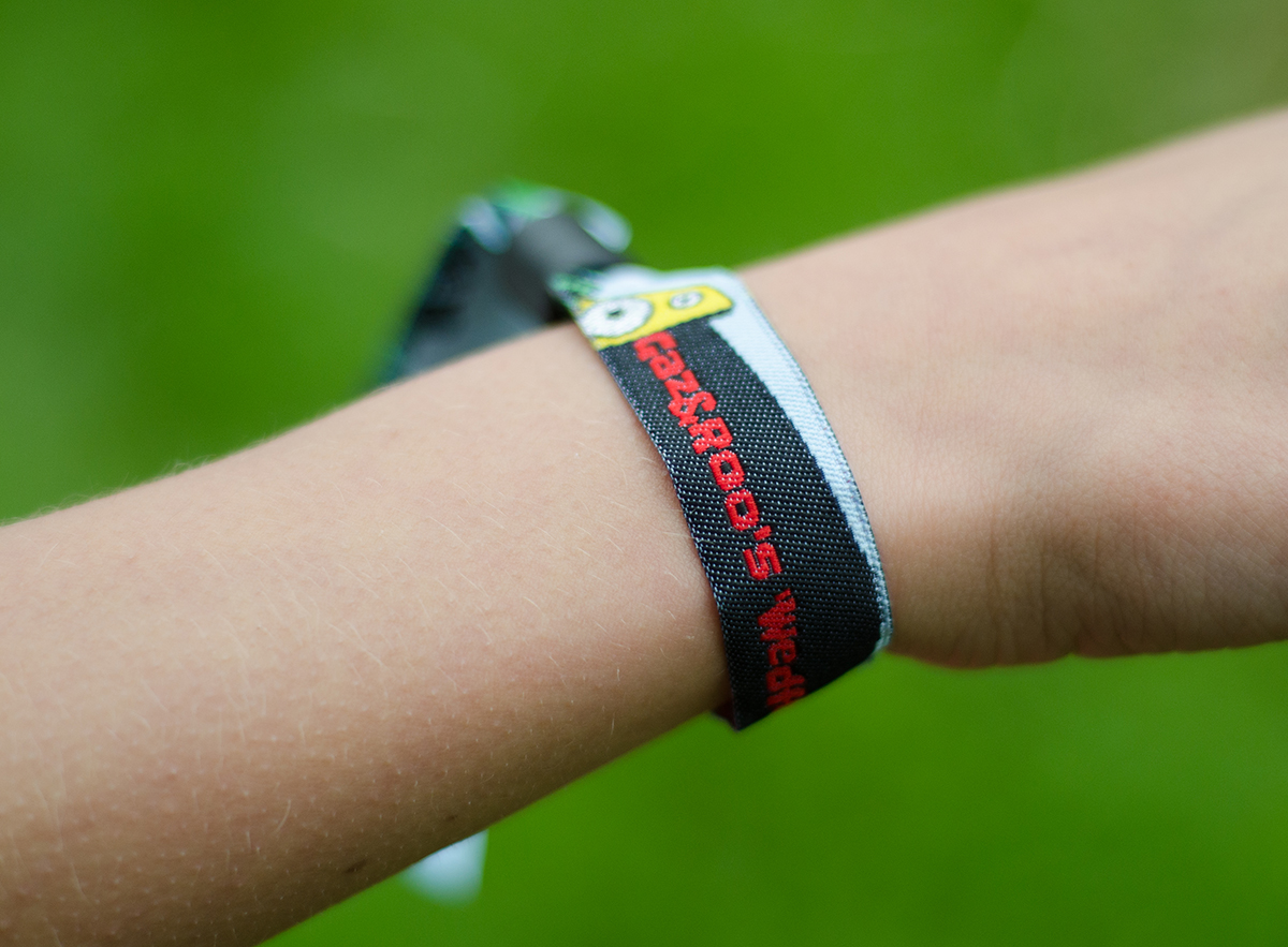 Festival Wedding, Quirky Wedding, Festival Wristbands, alternative weddings